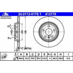 Тормозной диск (Ate) 24011201781