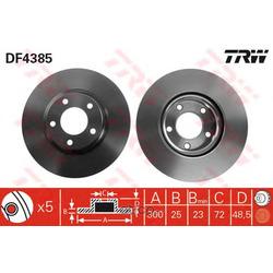 Диск тормозной вентилируемый (TRW/Lucas) DF4385