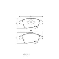 Комплект тормозных колодок, дисковый тормоз (Brembo) P24076