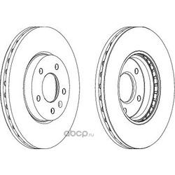 Тормозной диск (Ferodo) DDF1870