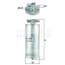 Топливный фильтр (Mahle/Knecht) KL659