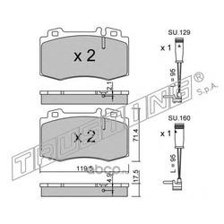 Комплект тормозных колодок, дисковый тормоз (Trusting) 5795W