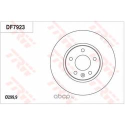 Тормозной диск (TRW/Lucas) DF7923