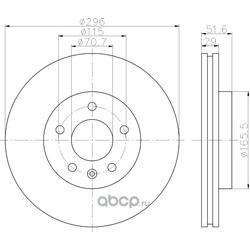 Тормозной диск (Hella) 8DD355114401