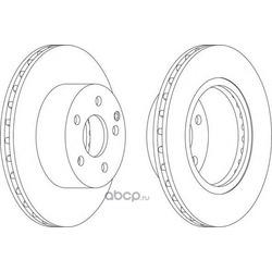 Тормозной диск (Ferodo) DDF1688