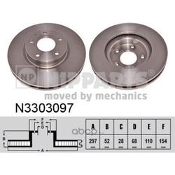 Тормозной диск (Nipparts) N3303097