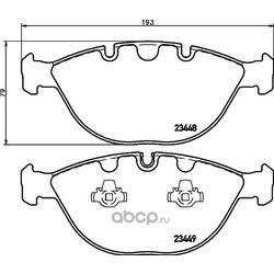 Комплект тормозных колодок, дисковый тормоз (Hella) 8DB355009921