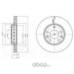 Тормозной диск (Delphi) BG4265