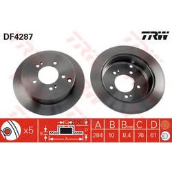 Диск тормозной (TRW/Lucas) DF4287