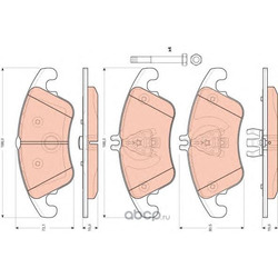 Комплект тормозных колодок, дисковый тормоз (TRW/Lucas) GDB1737