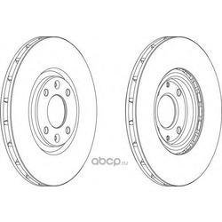 Тормозной диск (Ferodo) DDF1676