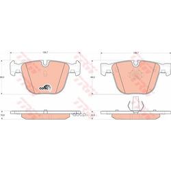 Колодки тормозные задние (TRW/Lucas) GDB1502