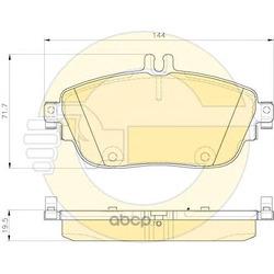 Комплект тормозных колодок, дисковый тормоз (Girling) 6119321