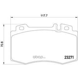 Колодки тормозные дисковые TEXTAR (Textar) 2327102