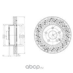 Тормозной диск (Delphi) BG4142