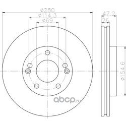 Тормозной диск (Hella) 8DD355118151