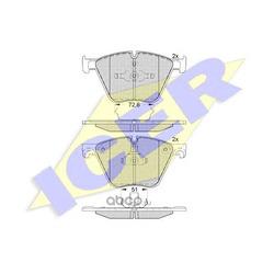 Комплект тормозных колодок, дисковый тормоз (Icer) 181992
