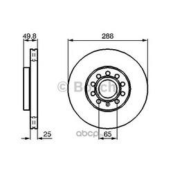 Тормозной диск (Bosch) 0986479088