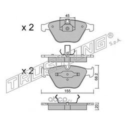 Комплект тормозных колодок, дисковый тормоз (Trusting) 5744