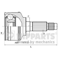 Шарнирный комплект (Nipparts) N2820311