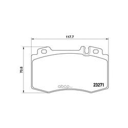 Комплект тормозных колодок, дисковый тормоз (Brembo) P50041