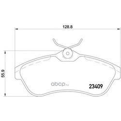 Колодки тормозные дисковые TEXTAR (Textar) 2340902