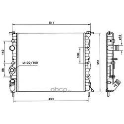 Радиатор, охлаждение двигателя (NRF) 58023