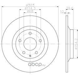 Тормозной диск (Hella) 8DD355118541