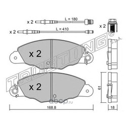 Комплект тормозных колодок, дисковый тормоз (Trusting) 3430