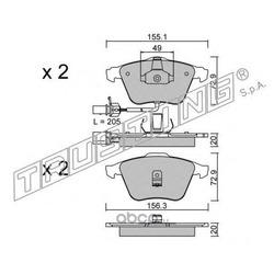 Комплект тормозных колодок, дисковый тормоз (Trusting) 5650