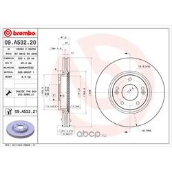 Тормозной диск (Brembo) 09A53220