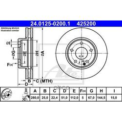 Тормозной диск (Ate) 24012502001