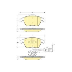 Комплект тормозных колодок, дисковый тормоз (Girling) 6115502