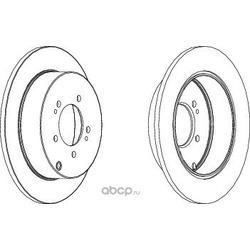 Тормозной диск (Ferodo) DDF1737