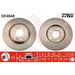 Диск тормозной (TRW/Lucas) DF4848