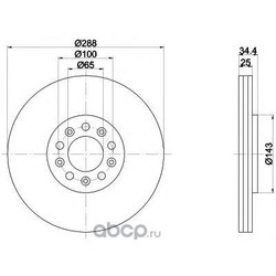 Диск тормозной TEXTAR (Textar) 92106603