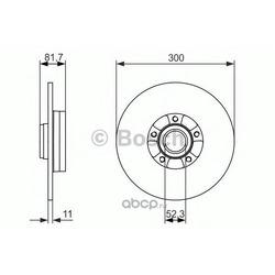 Тормозной диск (Bosch) 0986479780