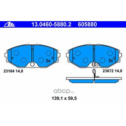 Комплект тормозных колодок, дисковый тормоз (Ate) 13046058802