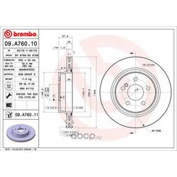 Тормозной диск (Brembo) 09A76011
