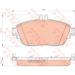 Колодки тормозные дисковые, комплект (TRW/Lucas) GDB1932
