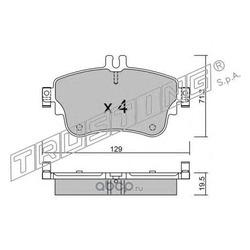Комплект тормозных колодок, дисковый тормоз (Trusting) 9800