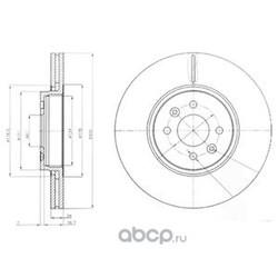 Тормозной диск (Delphi) BG3929