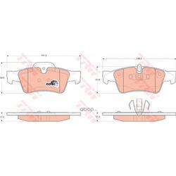 Колодки тормозные задние (TRW/Lucas) GDB1643