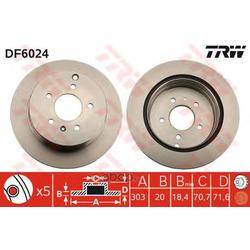 Диск тормозной вентилируемый (TRW/Lucas) DF6024