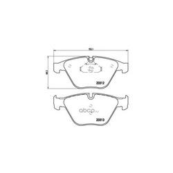 Колодки тормозные дисковые передние, комплект (Brembo) P06054