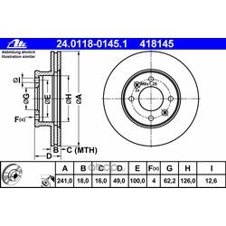 Тормозной диск (Ate) 24011801451