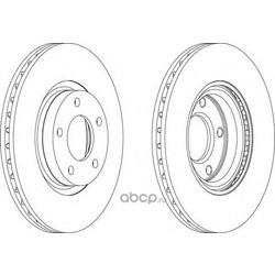 Тормозной диск (Ferodo) DDF1312