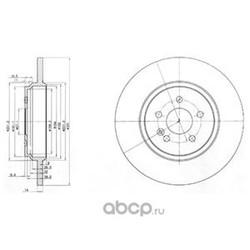 Тормозной диск (Delphi) BG3728