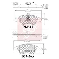 Дисковые тормозные колодки (Friction Master) CMX1342