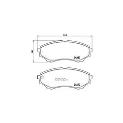 Колодки тормозные дисковые передние, комплект (Brembo) P24086